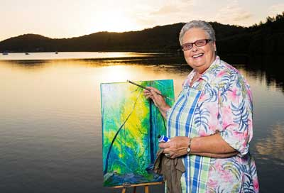 Retirement village with Art studio