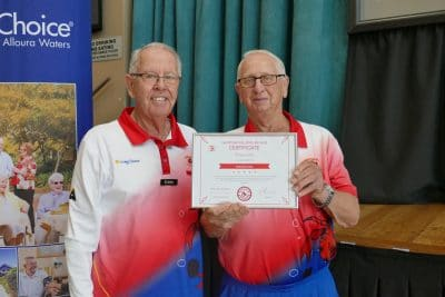 Don presents Certificate of Appreciation to Dick Love - Copy